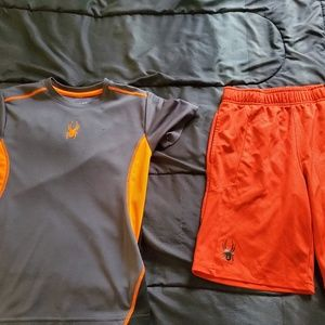 youth MED SPYDER shorts and shirt